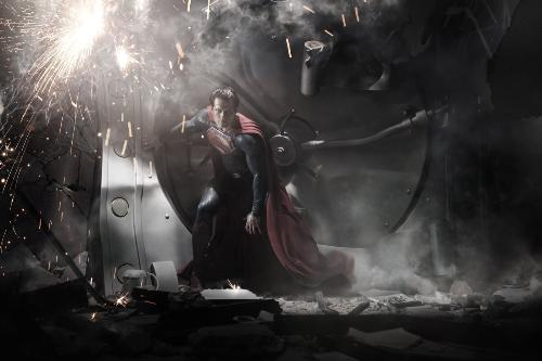 Henry Cavill as Superman - The first pic of Henry Cavill as Superman released by Warner Brother's studio.
