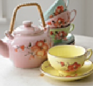 Teapot, teacup & saucer - A pretty picture of tea