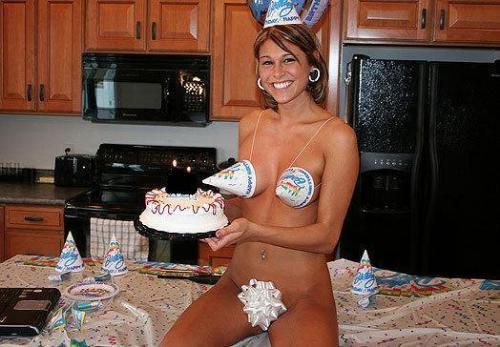 Surprise! - This is one way to surprise your husband on his birthday!