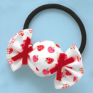 candy - this is a cute candy ponytail. I like this so much
