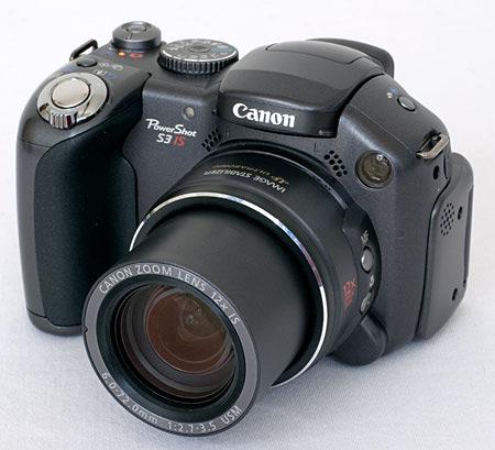 Canon Powershot - A black Canon Powershot digital camera.