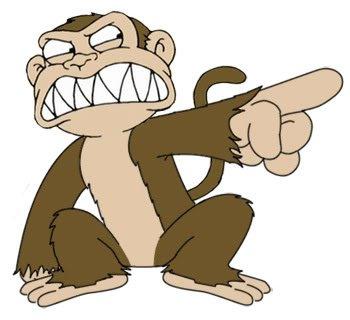 Evil Monkey - The Evil Monkey who lives in Chris's closet!