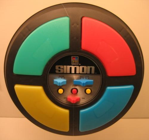 Simon - I loved this game! It was great trying to remember which order the lights went on! It was great for the memory!