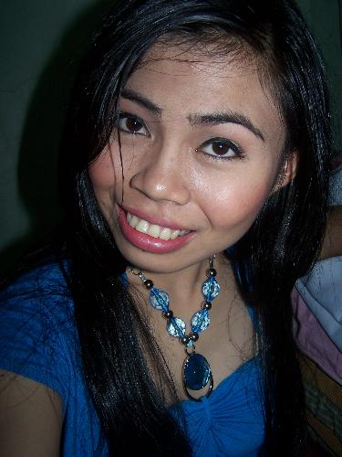 pretti jan - I love wearing blue because I felt so fresh with that color. It was taken after our pictorials for our graduation. My eyelids were so black because of the black eyeliner.