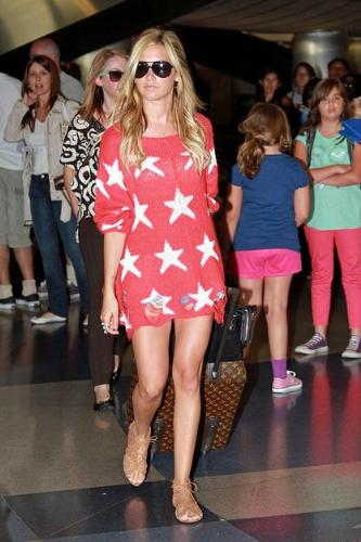 Ashley Tisdale - This out would of great for the 4th of July but not any other time of the year!