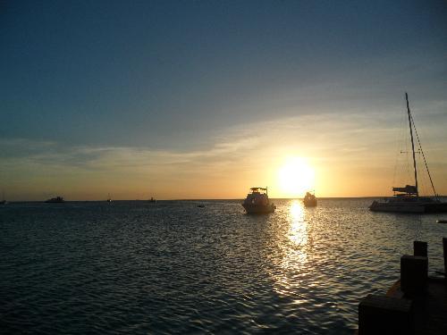 Aruba at sunset - Aruba sea at sunset.