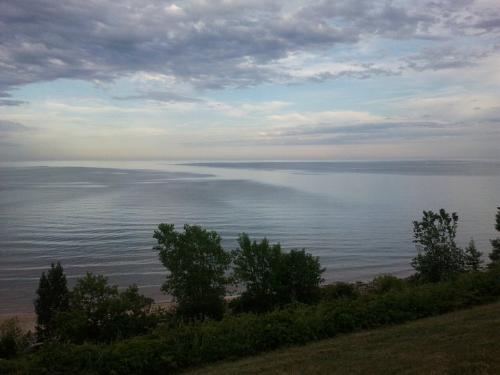 Lake Michigan - A view of one of the Great Lakes, Lake Michigan.