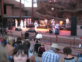 A Tribute To The Music Of ABBA - This is a picture that I took of a show titled 'A Tribute To The Music Of ABBA' at the Red Rock Amphitheater. It was a wonderful show. The musicians were very good and the show very energetic and uplifting. There was no program and none of the musicians were ever introduced to the audience. I never knew who any of them were. I believe that most or all were Swedish I do not believe that any had any association with the Band ABBA.