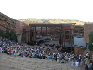 Red Rock Amphitheater in Red Rock Park, Colorado - I have just returned from a wonderful almost week in Colorado. This photo is of Red Rock Amphitheater in Red Rock Park. I was there to see a show titled 'A Tribute To The Music of ABBA'.