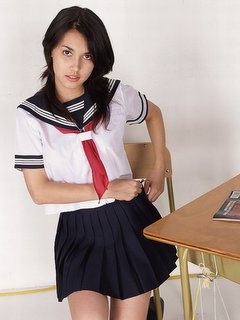 Miyabi - Miyabi was wearing a school uniform. cool