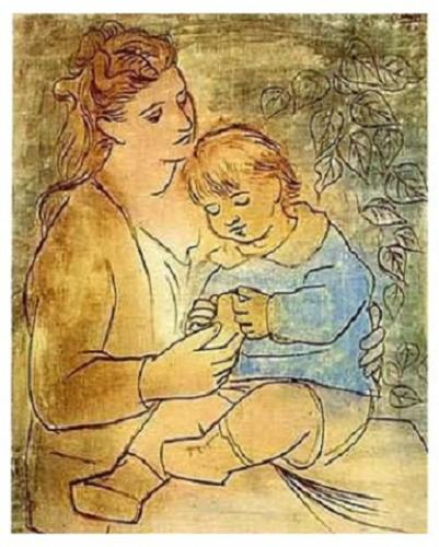 Mother and child - This was Painted in 1922 by Picasso