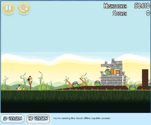 Angry bird on Chrome - Angry bird is one of the most famous game on the iphones and now it can be played on the Google chrome as well.This game can be played offline by installing on chrome. 179 levels with addtional chrome levels which can be earn throught completing some job on the 179 of the levels.