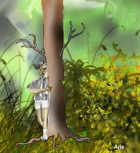 Tree, my friend - A digital painting Rambabu