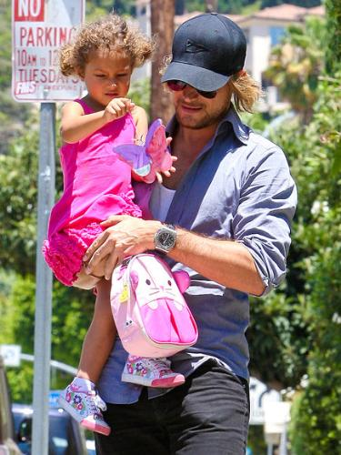 Daughter and dad - Gabriel Aubry and his daughter,Nahla, he shares with Hallee Berry.