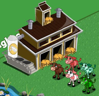 Farmville - A cow barn you can get on Farmville.