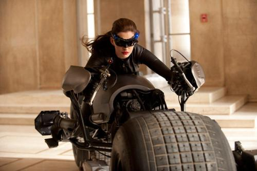 Cat Woman - Anne Hathaway is playing Cat Woman in the new Batman movie.