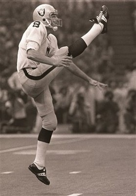 Ray Guy - The great punter who punted for the Oakland Raiders. He was the best and he can't get in the NFL Hall of Fame! It sucks!