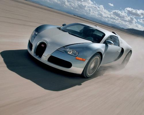 Bugatti Veyron - One of the most expensive and fast production car.