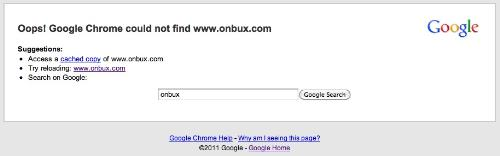 Onbux - Onbux is down. Tried opening using Google Chrome.
