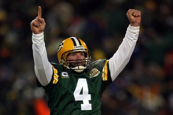 Brett Favre - When he played his last game in January 2008 for the Packers, it was a disgrace! If he had not thrown an interception in the 4th quarter to allow the NY Giants to score and allow the game to go into OT,which the Giants won,we could of gone to the Super Bowl that year! Thanks for nothing Favre!