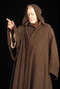 Ben Kenobi - The Older Ben Kenobi in the Ist star War movies that came out. Alec Guiness played Ben.