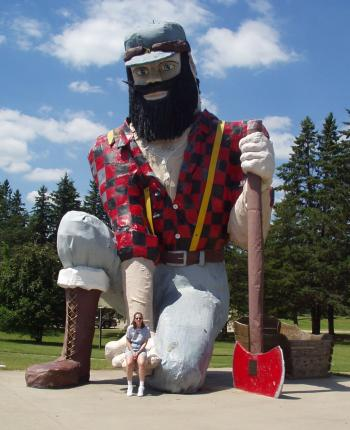Paul Bunyan - In Akeley Minnesota they have a statue of Payl Bunyan you can have your picture taken with.