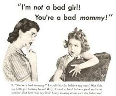 bad mom - really bad because she didn't care about her daughter