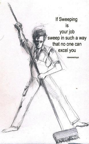 Dignity of Labor - An ink sketch Rambabu