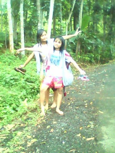 With friend - Enjoy life in holiday.