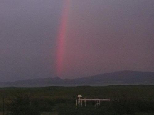 night rainbow - rainbow just after sunset in Arizona