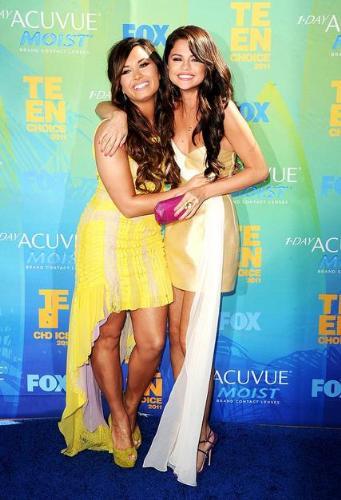 Demi and Selana - Demi Lovato and Selana Gomes. I do not like Demi's dress but I sure like Selena's!