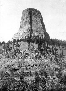Devils Tower - A photo of Devils Tower in 1900. Very Coll!