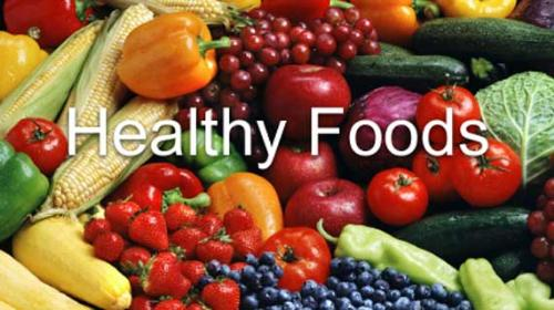 Healthy Foods - A picture of a lot of healthy foodd together.