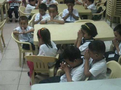 Nursery Class  - These children mostly are scholar of the Methodist Learning Center in Tondo.