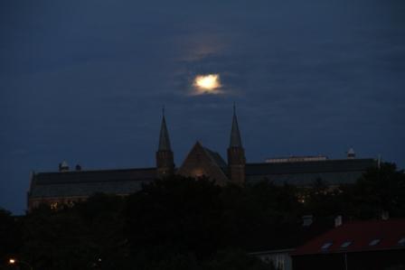 Moon - Moon over the university