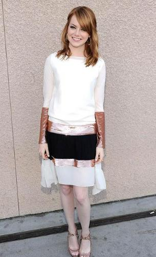 Emma Stone - Hey emma! I think Wonder Woman wants her silver bracelets back!