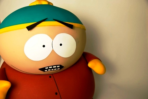 south park - a cartoon toy in south park