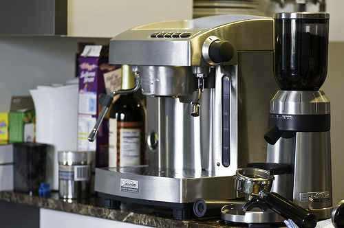 machine - a home-based coffee machine.