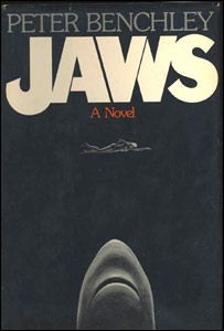 Jaws - The book by that inspired the movie by the same name! It was a scarey movie and it scared alot of people not to go in the water!