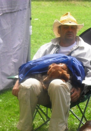 Waiting to enter the show ring... - at CACIB Sibiu 2011