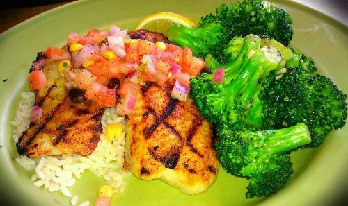 Fish fillet with Brocolli  - Food plate