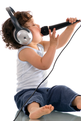 music - the kid knows how to sing..