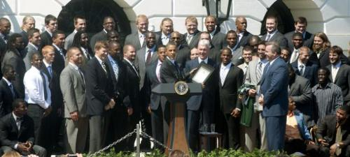 The Green Bay Packers - Last firday the Super Bowl XLV champs visited the Pesident at the White House.