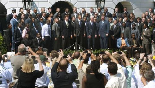 White house visit -  Green Bay Packers finally meet the President at the White House last friday! Awesome!