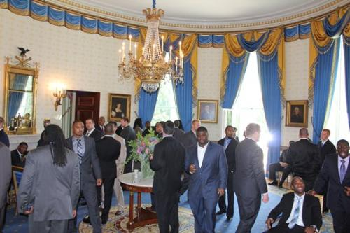 Inside the White House - A photo of some of the Packers inside the White House last friday.