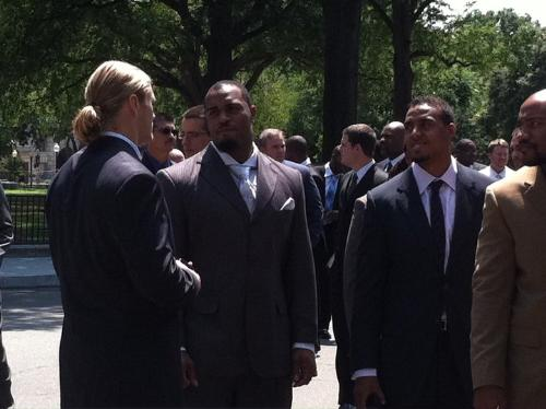 Some of the Packers - Last friday the Green Bay Packers where at the White House to meet Presidant Obama.