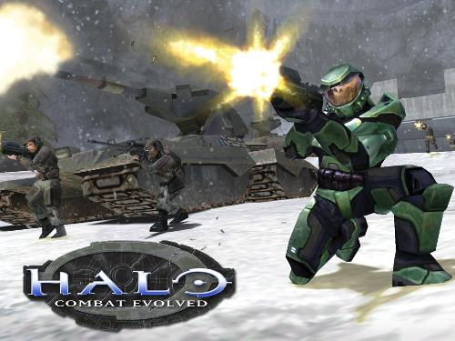 HALO video game - This is a picture of HALO for those who are not sure what it is about. It is clearly an adventure first person shooter video game. As a first person shooter game, it will involve weapons and 'killing' other characters in the game that are on the opposing side
