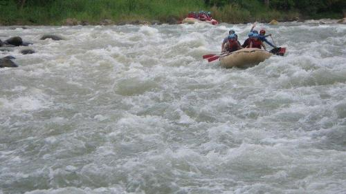 Rafting - Braving the waves