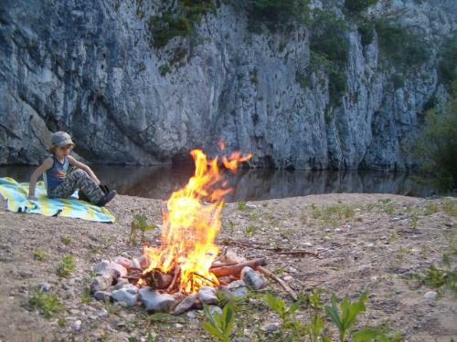 Cheile Nerei - Romania - Making fire while camping in Cheile Nerei