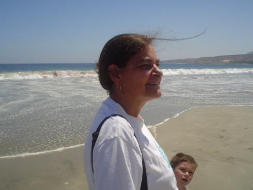 A beach in Chile - My granson and I at a beach about 6 hours away from where I live.
